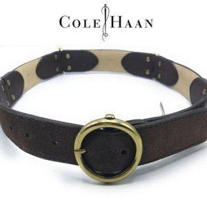 COLE HAAN Hinge Belt Choco Suede XS